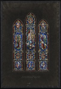 Design for window nearest the chancel on south, Second Congregational Church, Holyoke, Mass.