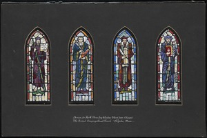 Design for north clerestory window third from chancel, the Second Congregational Church, Holyoke, Mass.