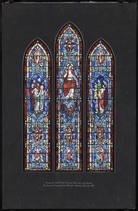 Design for south aisle window, third from the chancel, the Second Congregational Church, Holyoke, Massachsuetts