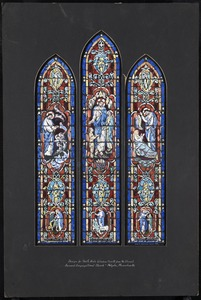 Design for north aisle window fourth from the chancel, Second Congregational Church, Holyoke, Massachusetts