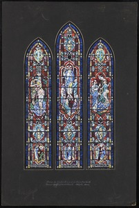 Design for window second from chancel on south, Second Congregational Church, Holyoke, Mass.