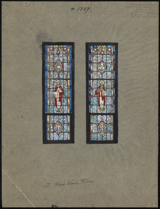 Design for altar windows, in the Church of Our Lady of Lourdes, Jamaica Plain, Mass.