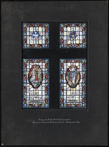 Design for middle aisle window on west, Gammons Memorial Methodist Church, Bridgewater, Mass.