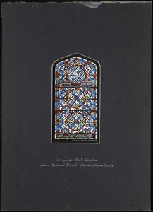 Design for aisle window, Saint Gabriel's Church, Marion, Massachusetts