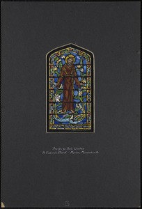 Design for aisle window, St. Gabriel's Church, Marion, Massachusetts