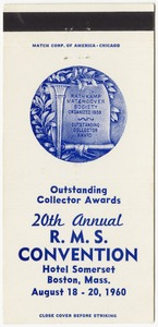 20th Annual R.M.S. Convention Outstanding Collector Awards