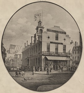 View of the Old State House, Boston, about A.D. 1850