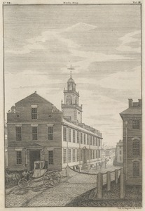 S.W. view of the State-House, in Boston