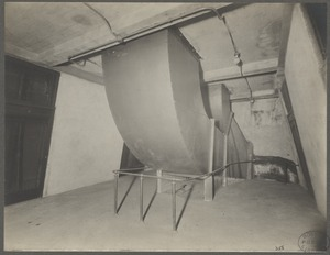 Boston, Massachusetts. East Boston Tunnel. Trough for ventilating duct showing slant in walls of elevator shaft