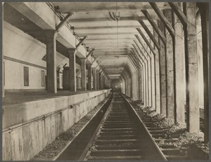 Boston Elevated Railway. Washington Street Tunnel from Summer Street Station