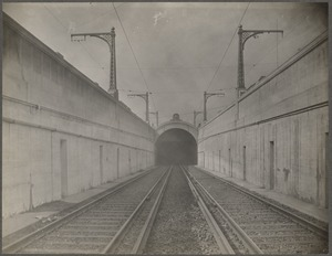 Boston Elevated Railway. Kendall Square. Incline and portal