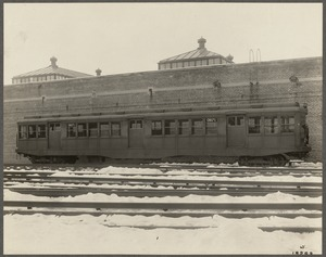 Boston Elevated Railway. Equipment. Pressed steel car