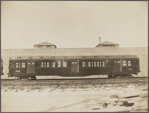Boston Elevated Railway. Cambridge subway car