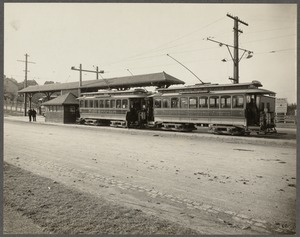 Boston Elevated Railway. Equipment. Two car train