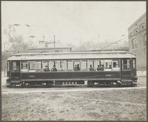 Boston Elevated Railway. Equipment. First semi-convertible car