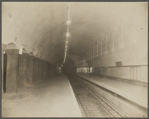 Boston Elevated Railway. Park Street Station