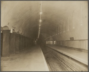 Boston Elevated Railway. Park Street Station, Cambridge outbound track