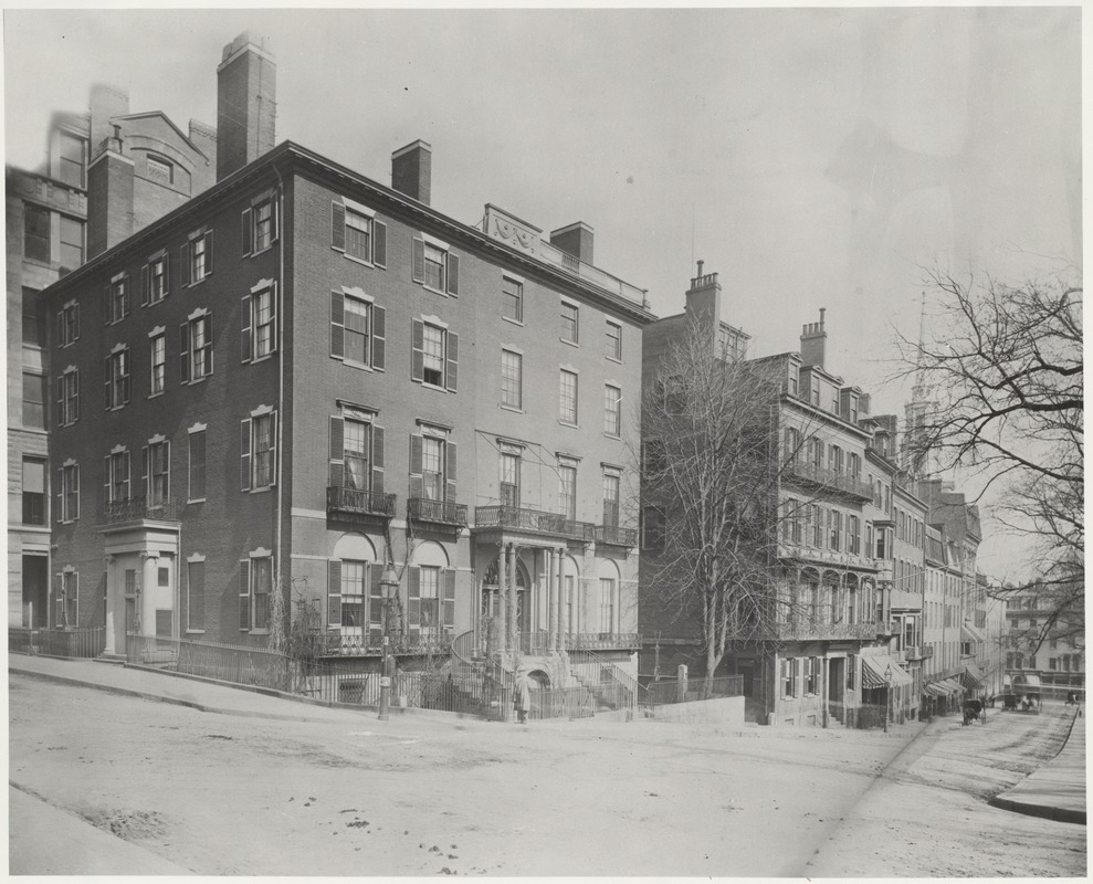 Armory-Ticknor house (with view of Park street)
