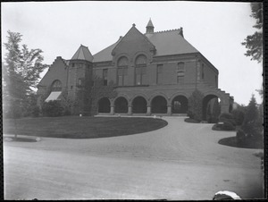 View of Nevins Memorial Library taken from across the street
