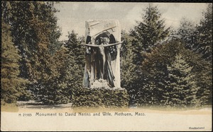 Monument to David Nerins and wife, Methuen, Mass.