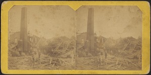 View of north end of the ruins of Wallhill[?] Paper Mill exploded May 2 1874