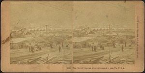 The city of canvas, where Johnstown was, Pa. U.S.A.