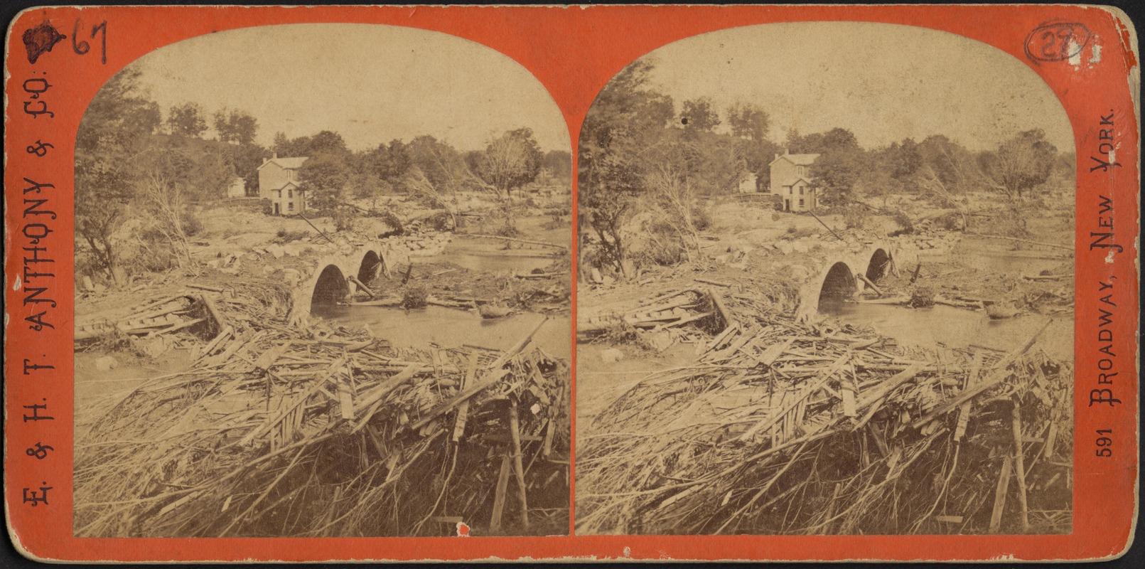 Mill River flood, Hampshire County, Mass., May 16, 1874