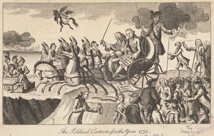 The political cartoon, for the year 1775