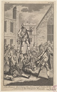 The Premier distributing the loaves and fishes to the labourers in His vineyard, May 9, 1772