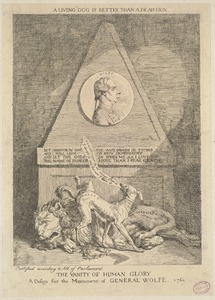 The vanity of human glory. A design for the monument of General Wolfe, 1760