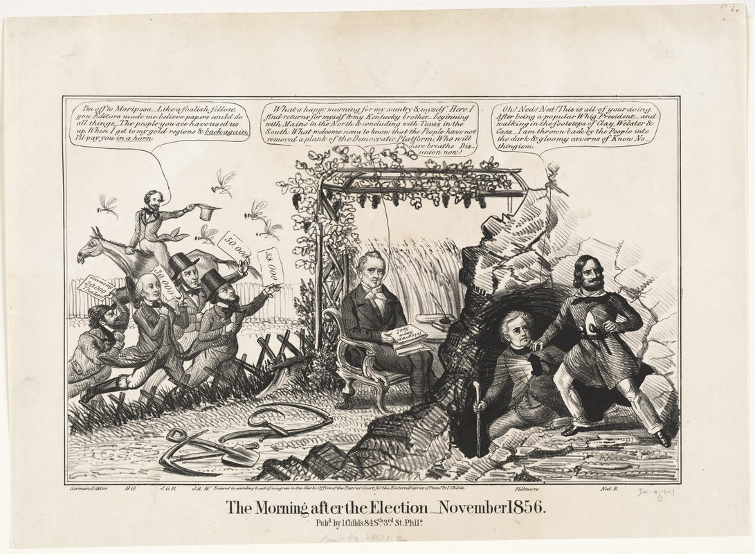 account of the presidential elections of 1856 james buchanan john fremont and millard fillmore