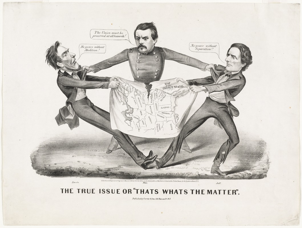 "Image result for The true issue or ""That's what's the matter."" 1864."