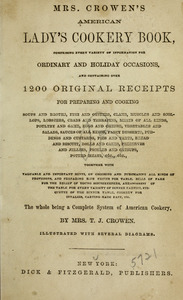 Mrs. Crowen's American lady's cookery book.