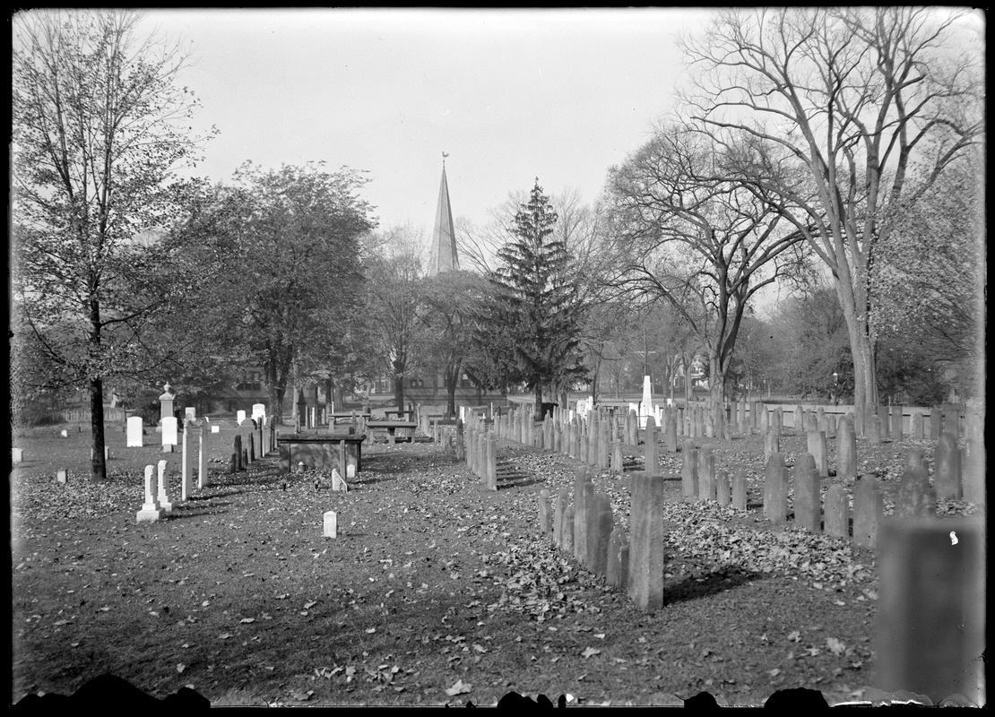 Cemetery and church 1/2 way looking west