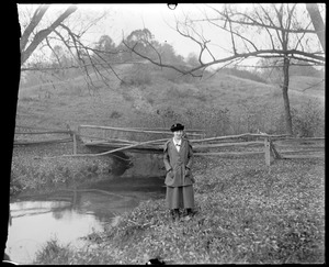 Girl and bridge [R. Kibbe?]