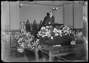 Flowers and Bailey - C. Allen's funeral