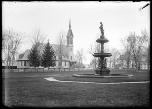 Church & fountain on common
