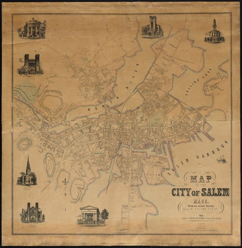 map of the city of salem mass digital commonwealth