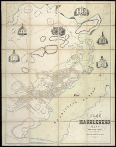 Plan of Marblehead, Mass. from actual survey