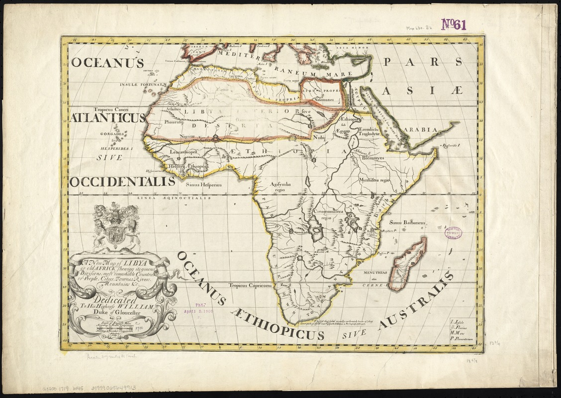 A new map of Libya or old Africk shewing its general