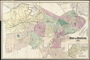 Map of Boston 1872