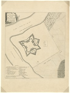 Plan of Fort le Quesne, built by the French at the fork of the Ohio and Monongahela in 1754