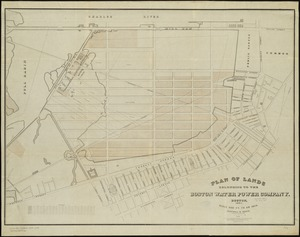 Plan of lands belonging to the Boston Water Power Company