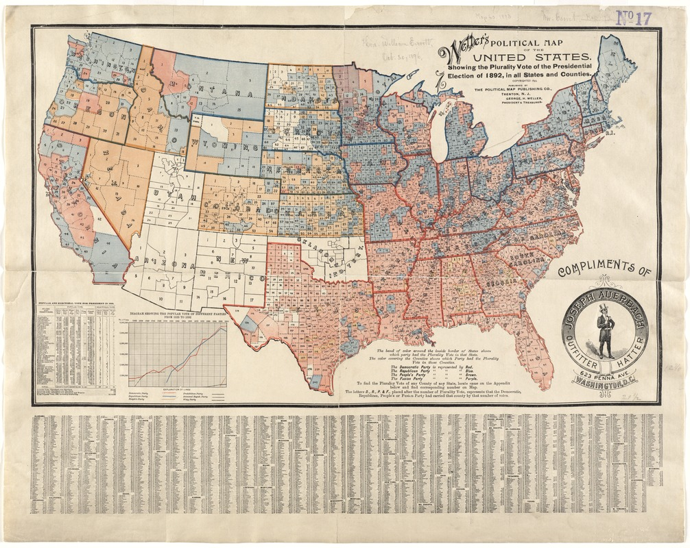 A Political Map Of The United States.Weller S Political Map Of The United States Norman B Leventhal