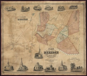 Plan of the town of Meriden, New Haven County, Connecticut