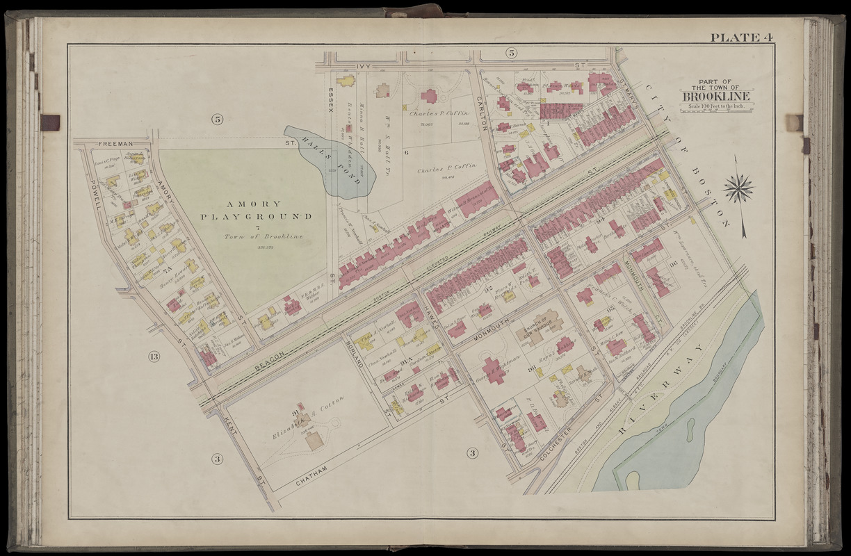Atlas of the town of Brookline, Norfolk County, Massachusetts