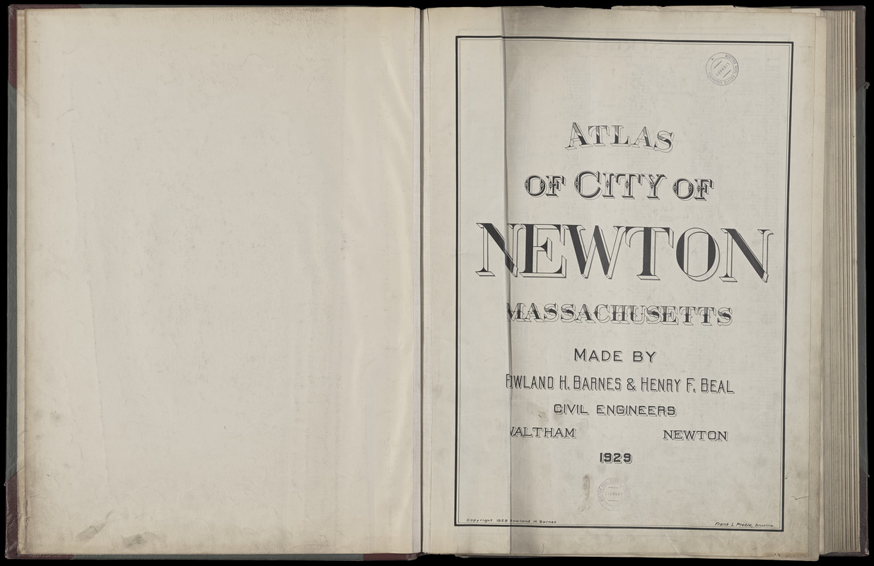 Atlas of the city of Newton, Massachusetts