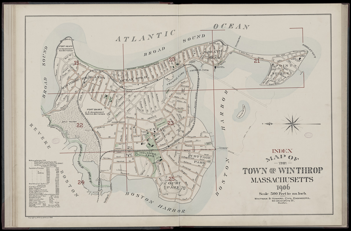 Atlas of the towns of Revere and Winthrop, Suffolk County ... on