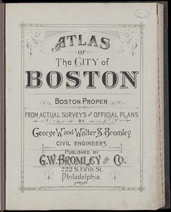 Atlas of the city of Boston : Boston proper