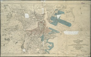 Map of Boston proper, Charlestown, South Boston and East Boston